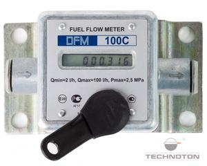 Экран и ключ счетчика-расходомера топлива DFM