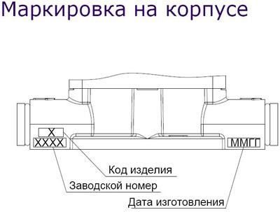 Расходомер топлива DFM - маркировка на корпусе