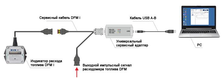Схема подключения индикатора